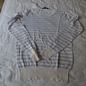 light sweater French Connection XL white blue